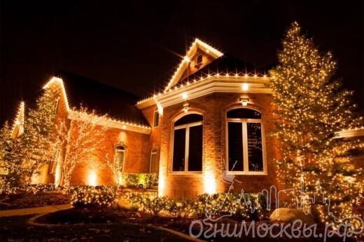Новогодняя подсветка фасадов