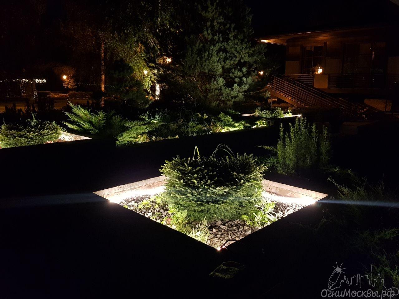 Подсветка клумб